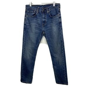 Levis 502 Mom Jeans Blue Tapered High Rise